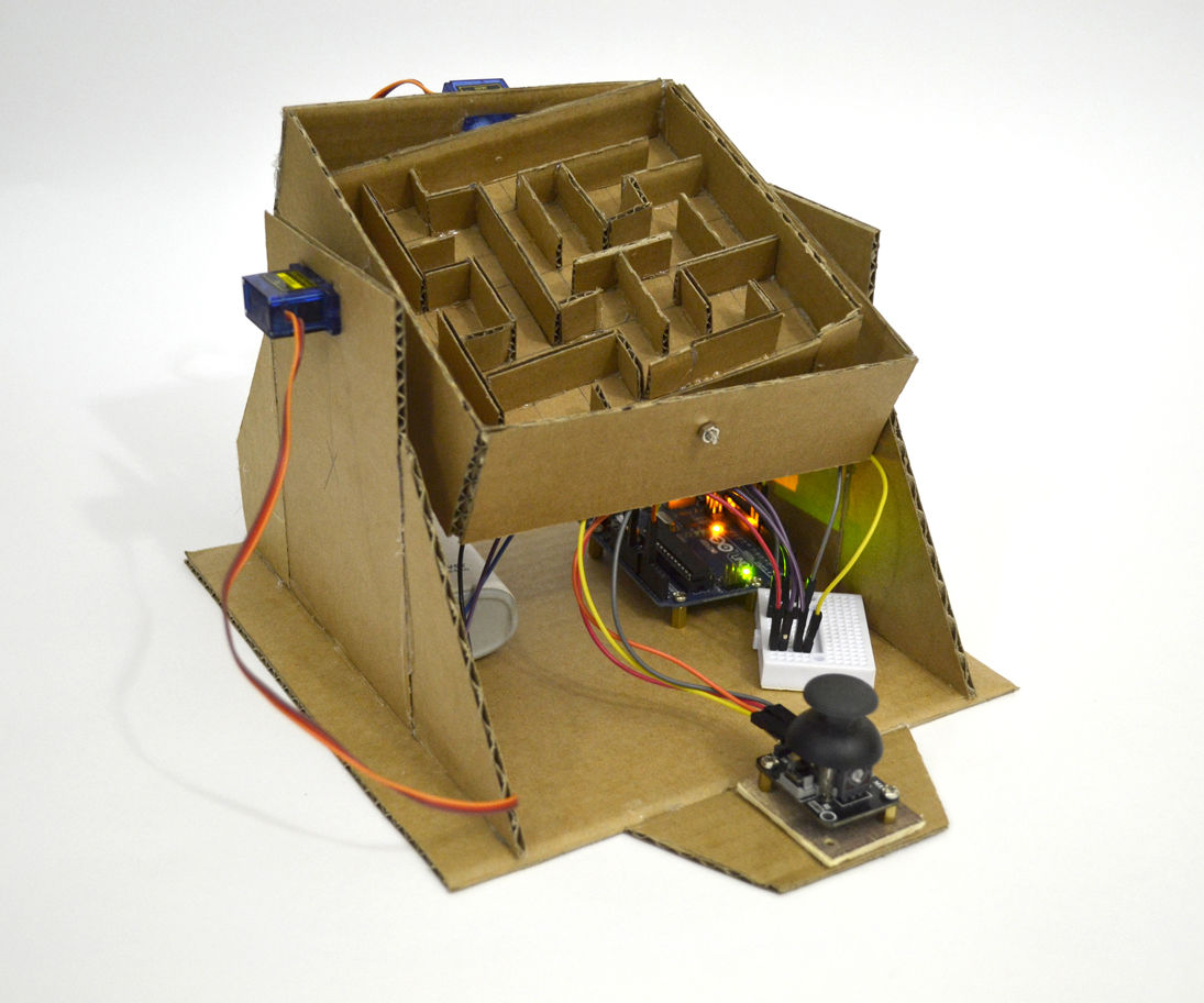 Arduino Marble Maze Labyrinth