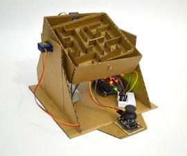 Arduino Marble Cardboard Maze Labyrinth