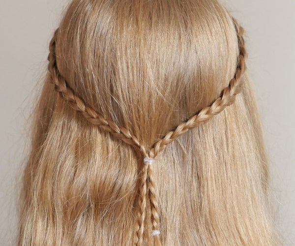 Easy Hairstyle With Two Small Braids