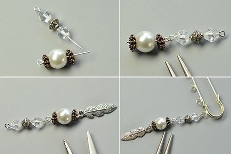 Make the Dangle Charms for the Pearlbrooch