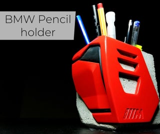 BMW Concept Car Inspired Pencil Holder