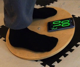Adjustable Wobble Board With Timer App