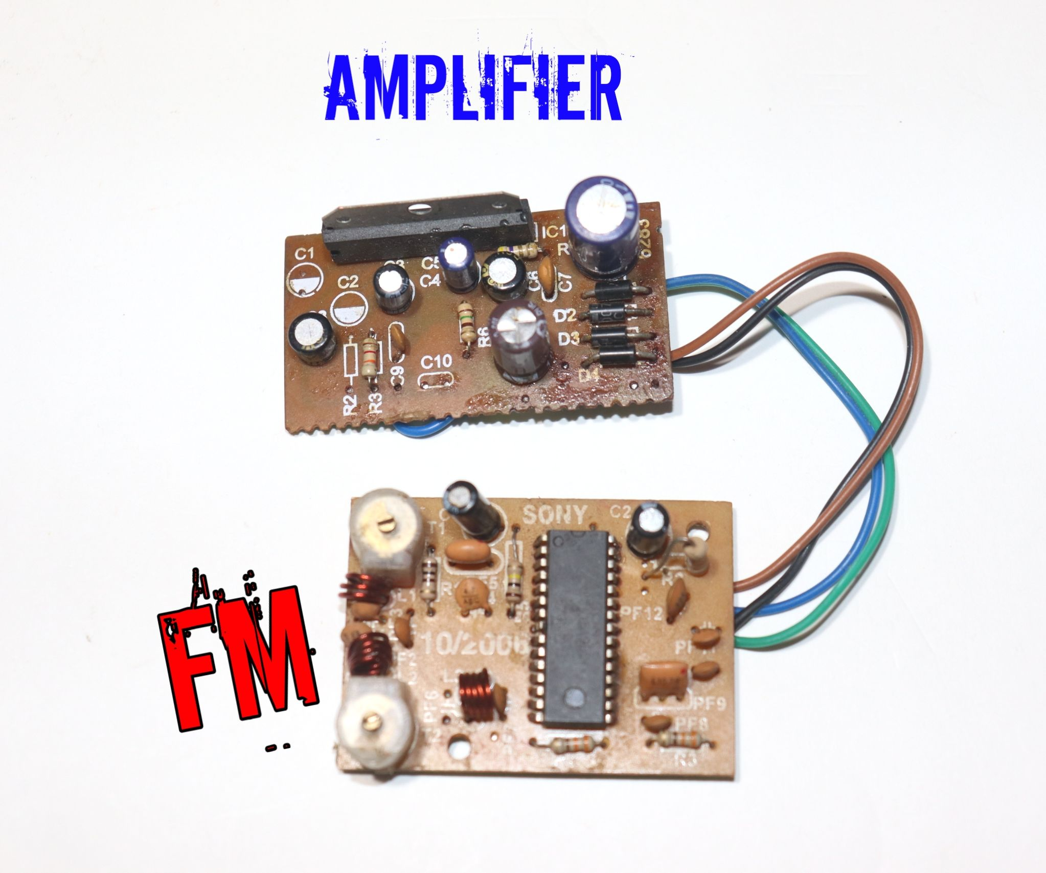 how to connect fm receiver in an amplifier board : 5 steps - instructables  instructables