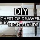 Cut Dresser in Half + Made 2 Nightstands