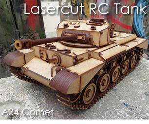 Lasercut RC Comet Tank