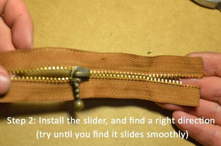 Firstly, Here I Add Some Pictures to Show You How to Make a Zipper.