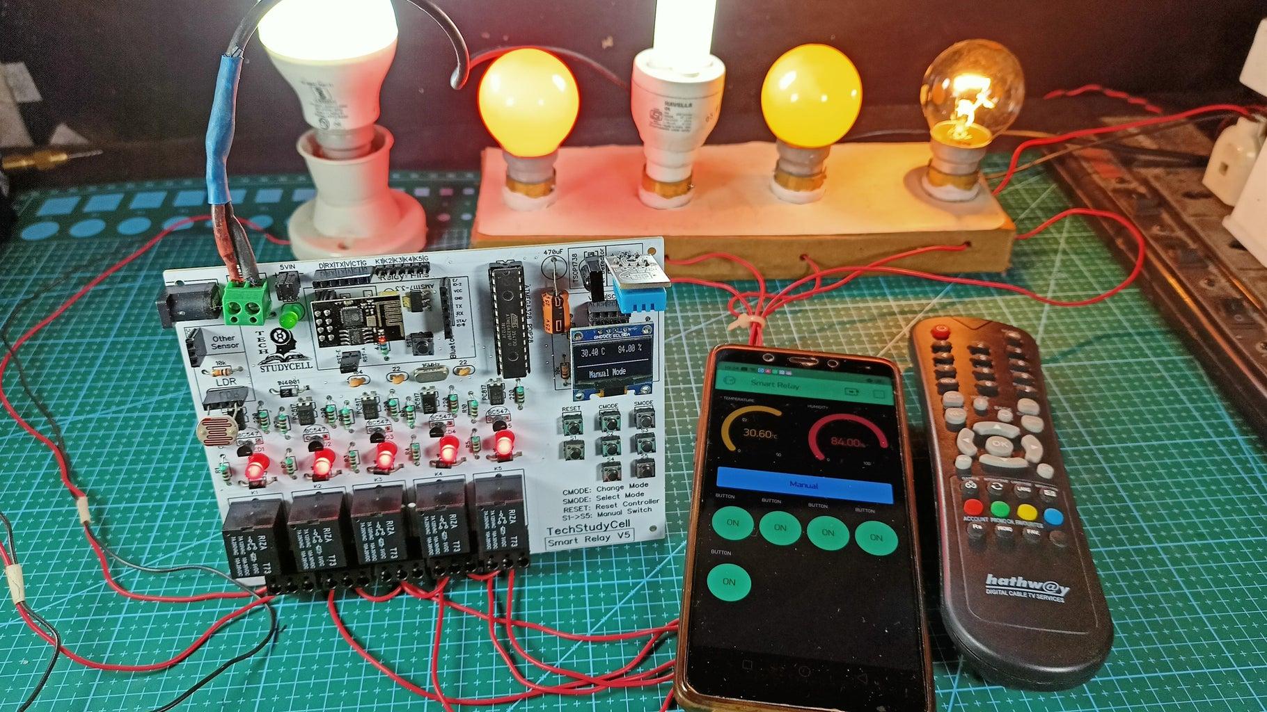 Home Automation Using Arduino and WiFi Module ESP01 | Arduino ESP8266 Control Relay