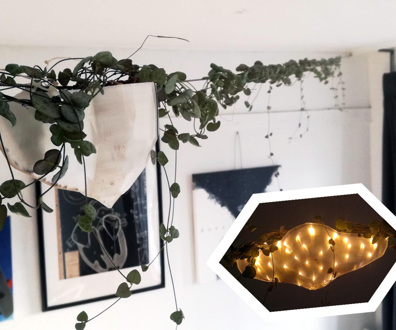 LED Lit Suspended Planter