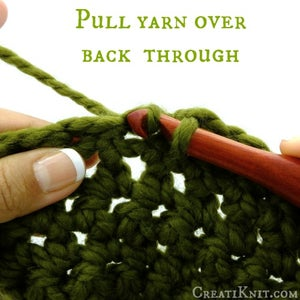 Pull Your Yarn Over Back Through the Opening Under the Chain.