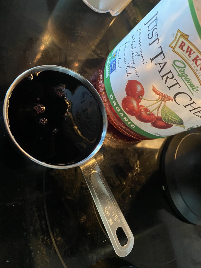 Step Two: Pour a ½ Cup of Cherry Juice Into the Blender