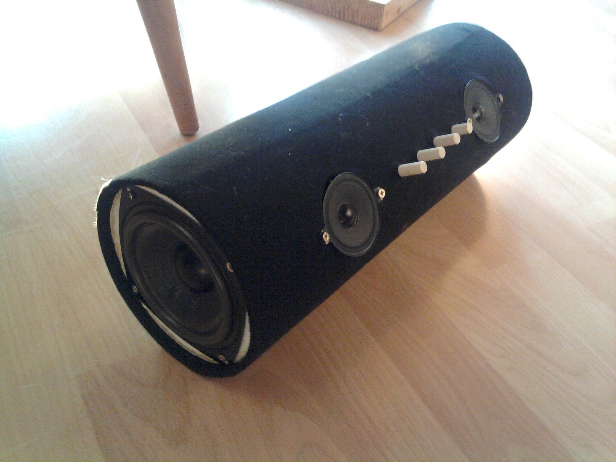 Awsome speaker tube from old computer speakers