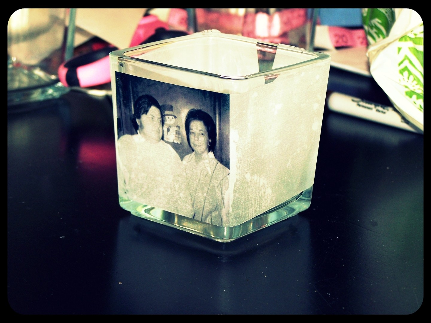 Easy Photo Candle Holders