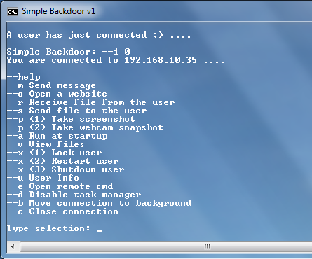 Simple Python Backdoor