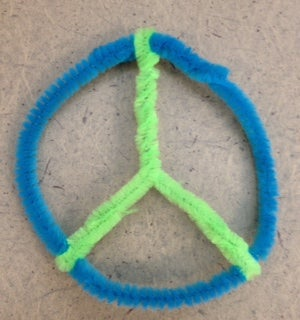Create a Peace Sign From Pipe Cleaner!
