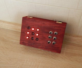 Electronic Puzzle Box With Secret Compartment
