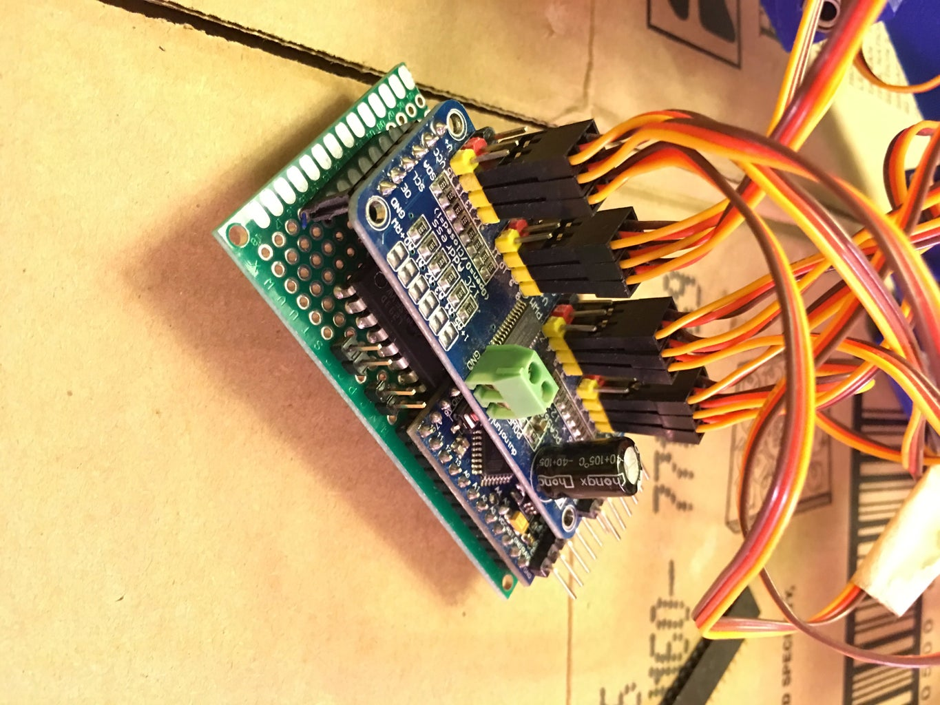 Connect Servos to PWM Driver