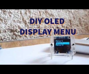 Arduino OLED Display Menu With Option to Select