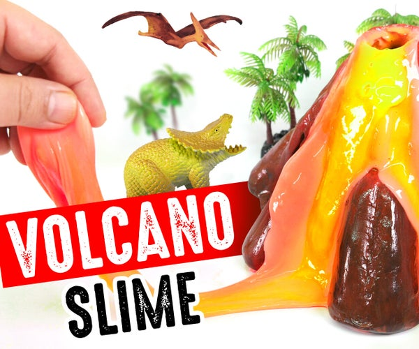 DIY VOLCANO SLIME!! Glow Lava Slime