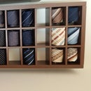 Wall Mount Rolled Neck Tie Display