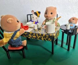 Sylvanian大小(1:12)现代餐饮场所(Tinkercad&3D打印教程)