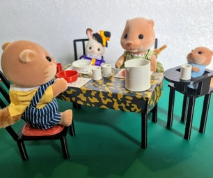 Sylvanian Sized (1:12) Modern Dining Set (Tinkercad & 3D Printing Tutorial)
