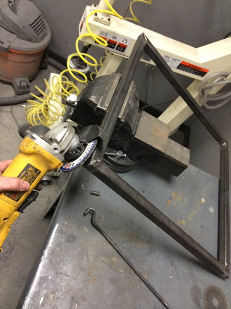 Table Base Fabrication - Grinding Round 2