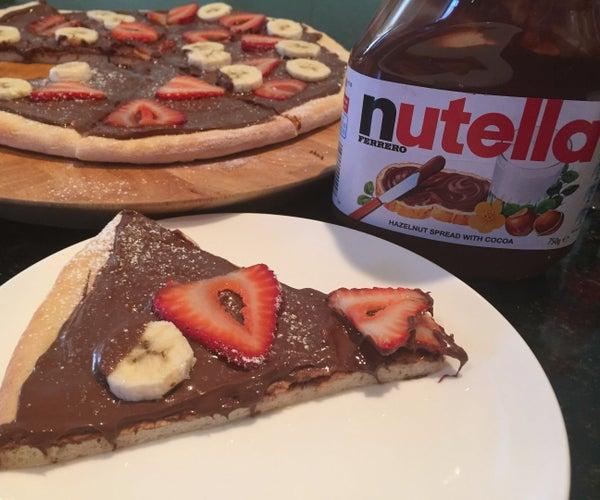 Nutella Dessert Pizza (Dough From Scratch!!)
