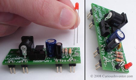 Make Sure LEDs and Some Capacitors Are Inserted in the Right Direction
