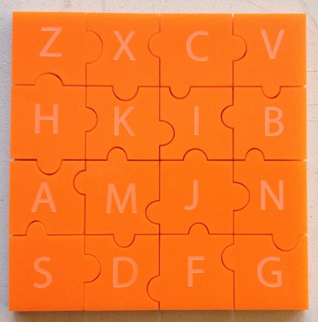 Laser Cut the Puzzle Pieces