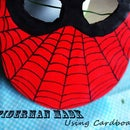 A SPIDER-MAN MASK Using CARDBOARD