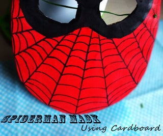 A SPIDER-MAN MASK Using CARDBOARD