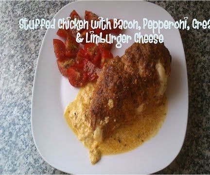 Stuffed Chicken With Bacon, Pepperoni, Cream & Limburger Cheese Recipe