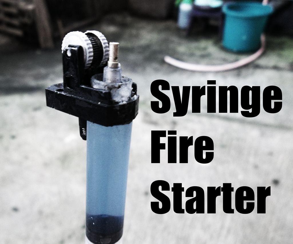Syringe Fire Starter