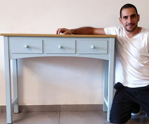 DIY Console Table With 'Fake' Drawers