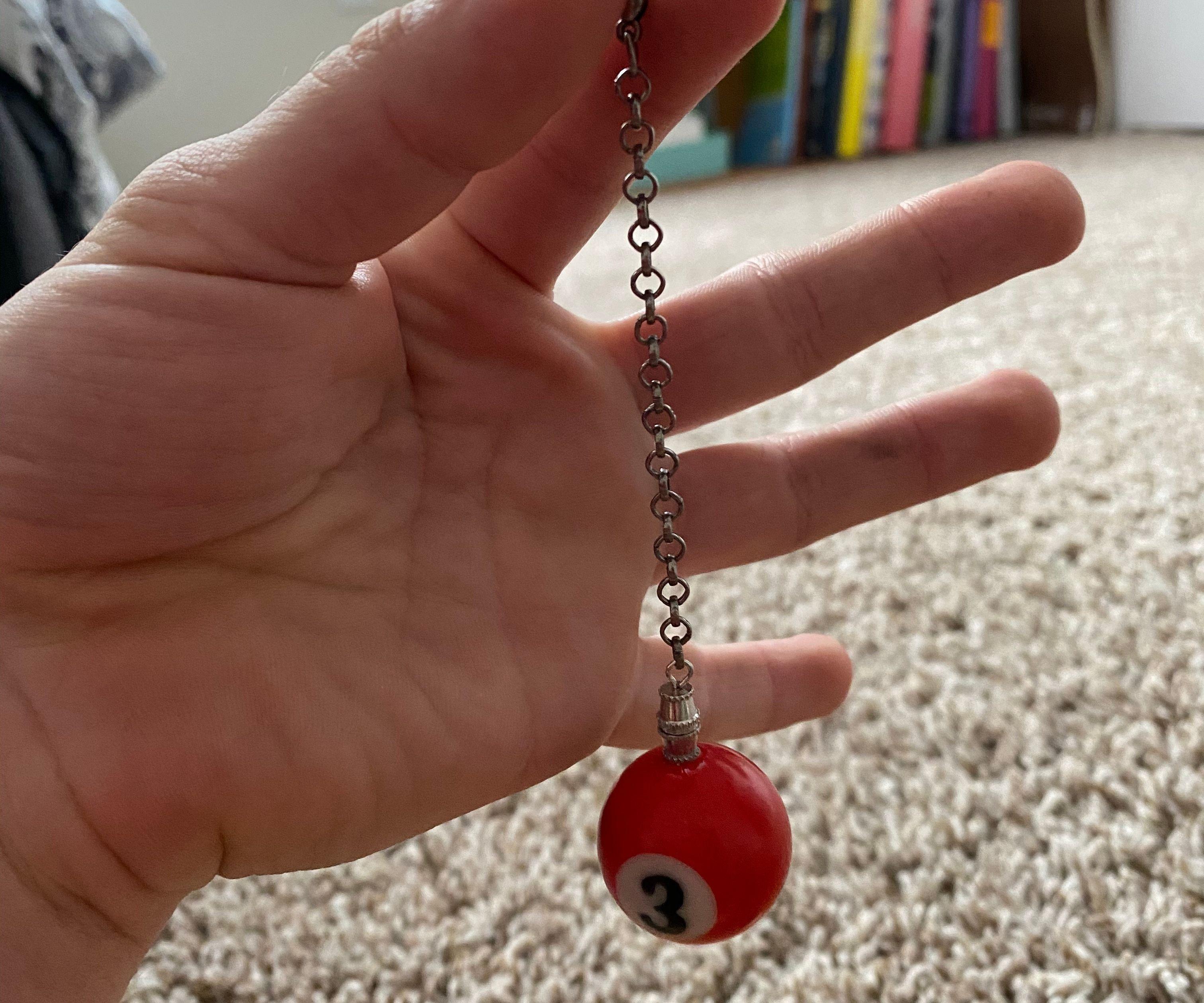 Mini-Pool Ball Keychain