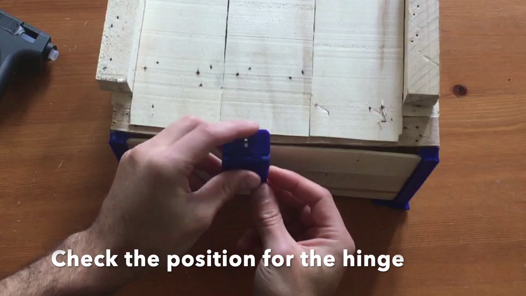Hot Glue the 3D Printed Parts