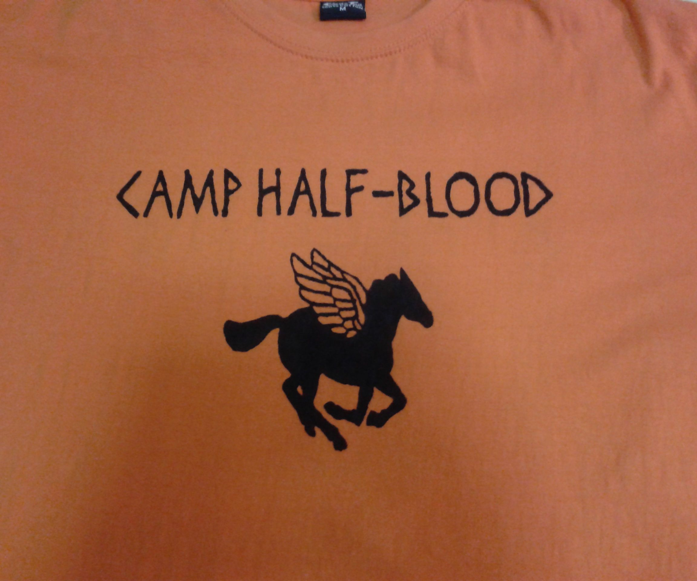 Awesome Camp Half-Blood shirt with back design.