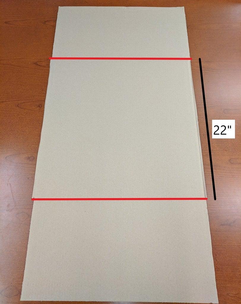 Cut Flaps Off Each Panel