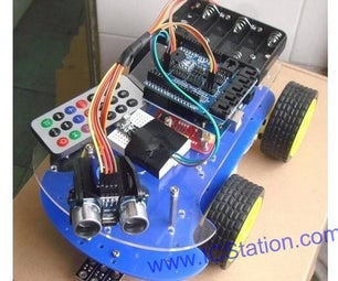 Multi-Function Automatic Move Smart Car for Arduino