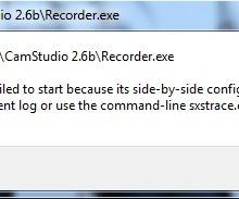Tutorial: Fix Camstudio Side by Side Error