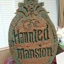 the haunted mansion plaque