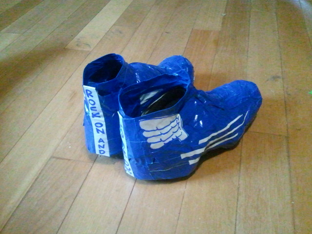 Super fancy water/windproof bike shoe duct tape covers