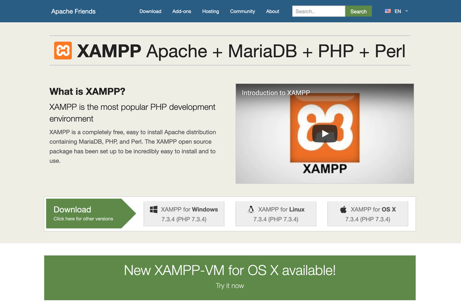 Downloading XAMPP From Apache