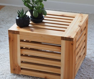 Slatted Cube Table