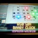 RGB Wifi Binary Clock (ESP8266+WS2812b)