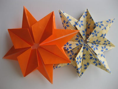 How to Fold an Origami Eight-Pointed Star