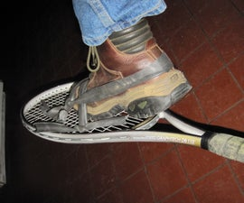 Snow Shoes From 2 Tennis Rackets and Bicycle Inner Tubes