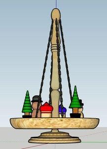 Colorful Christmas Carousel