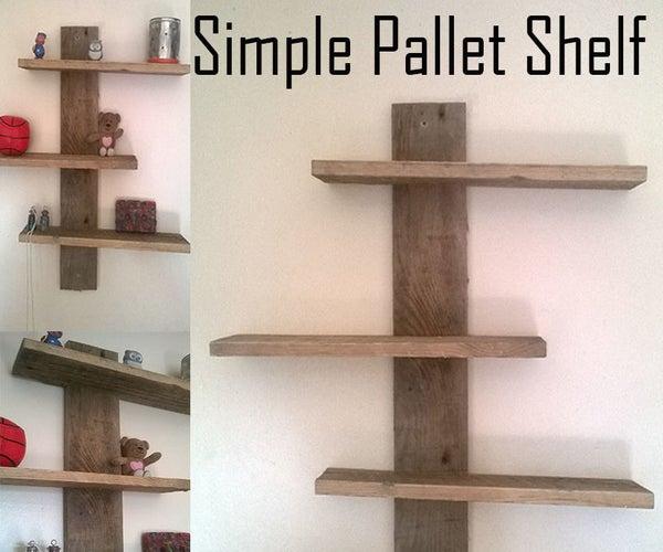 Simple Modern Pallet Shelf
