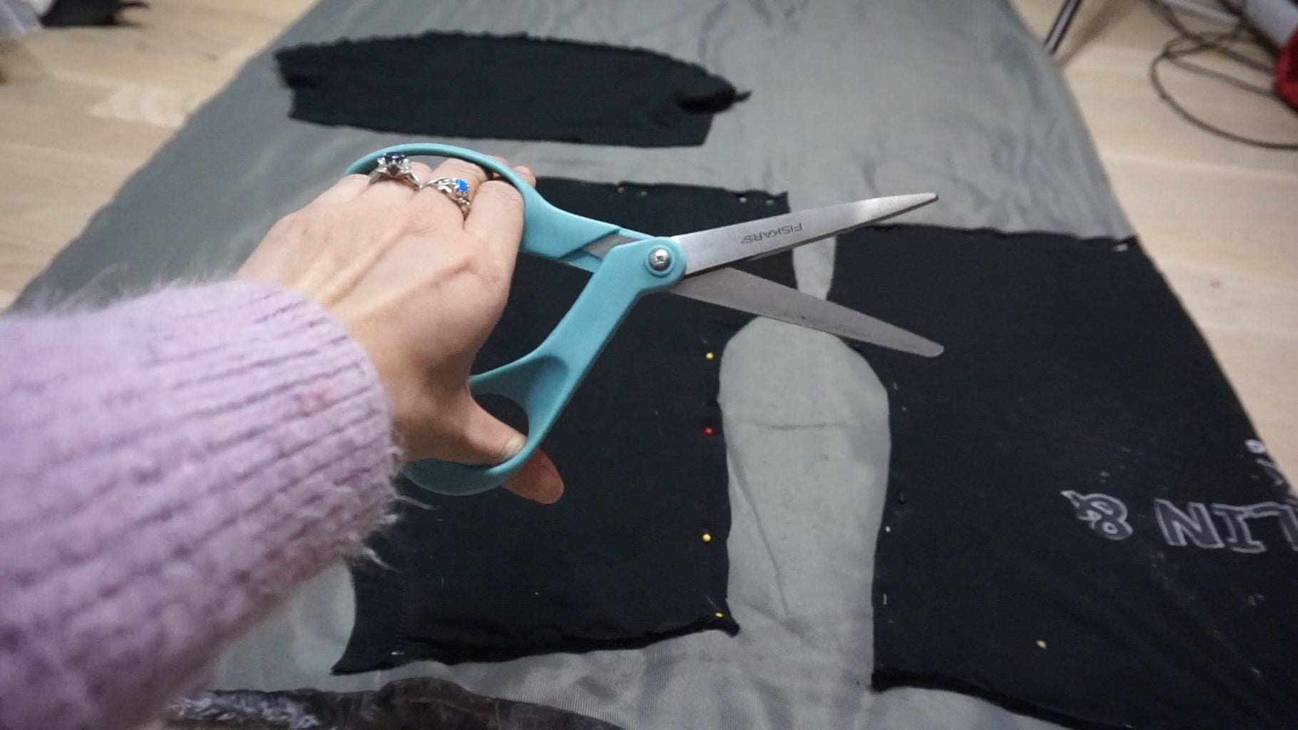 Step 2: Pin Your New Pattern Pieces to Your Fabric